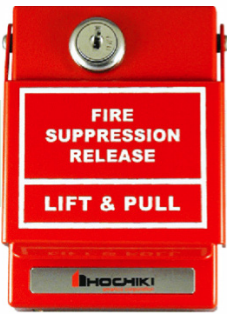 Pull Station for Fire Suppression Release