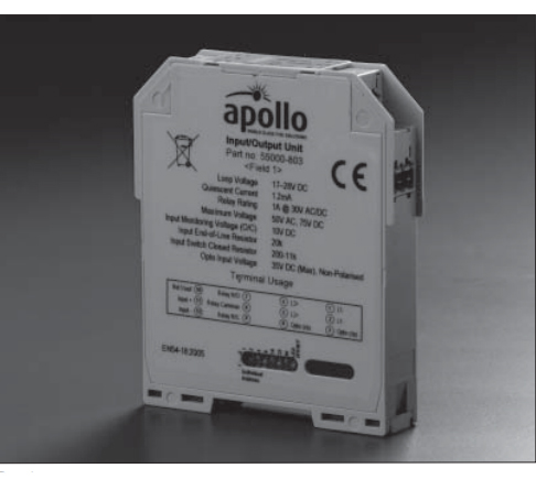 Apollo XP95 DIN Rail Mains Input/Output Unit
